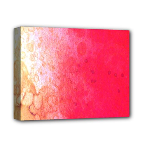 Abstract Red And Gold Ink Blot Gradient Deluxe Canvas 14  x 11