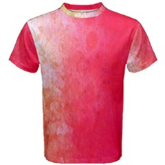 Abstract Red And Gold Ink Blot Gradient Men s Cotton Tee