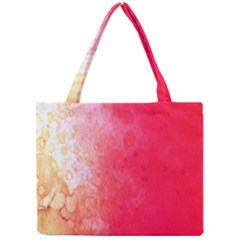 Abstract Red And Gold Ink Blot Gradient Mini Tote Bag
