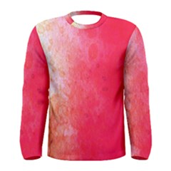 Abstract Red And Gold Ink Blot Gradient Men s Long Sleeve Tee