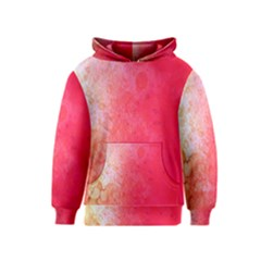 Abstract Red And Gold Ink Blot Gradient Kids  Pullover Hoodie