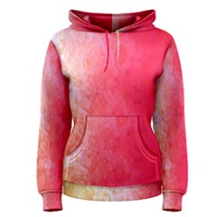 Abstract Red And Gold Ink Blot Gradient Women s Pullover Hoodie