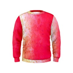 Abstract Red And Gold Ink Blot Gradient Kids  Sweatshirt