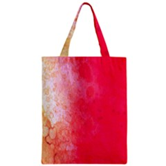 Abstract Red And Gold Ink Blot Gradient Zipper Classic Tote Bag