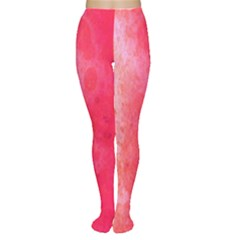 Abstract Red And Gold Ink Blot Gradient Women s Tights