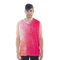 Abstract Red And Gold Ink Blot Gradient Men s Basketball Tank Top