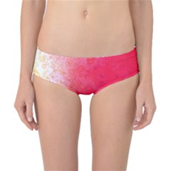 Abstract Red And Gold Ink Blot Gradient Classic Bikini Bottoms