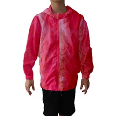 Abstract Red And Gold Ink Blot Gradient Hooded Wind Breaker (Kids)