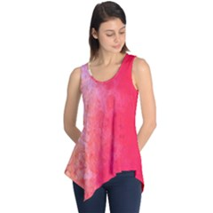 Abstract Red And Gold Ink Blot Gradient Sleeveless Tunic