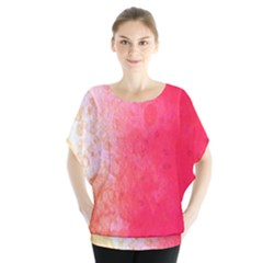 Abstract Red And Gold Ink Blot Gradient Blouse
