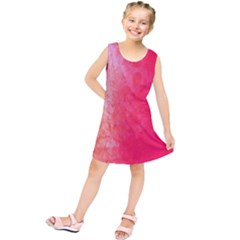 Abstract Red And Gold Ink Blot Gradient Kids  Tunic Dress