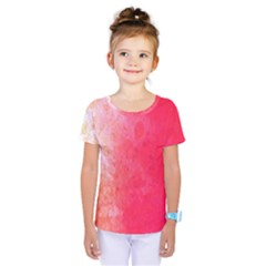 Abstract Red And Gold Ink Blot Gradient Kids  One Piece Tee