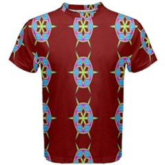 Geometric Seamless Pattern Digital Computer Graphic Wallpaper Men s Cotton Tee