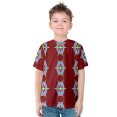 Geometric Seamless Pattern Digital Computer Graphic Wallpaper Kids  Cotton Tee