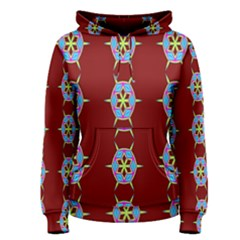Geometric Seamless Pattern Digital Computer Graphic Wallpaper Women s Pullover Hoodie