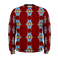 Geometric Seamless Pattern Digital Computer Graphic Wallpaper Men s Sweatshirt