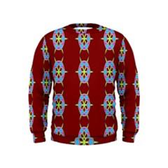 Geometric Seamless Pattern Digital Computer Graphic Wallpaper Kids  Sweatshirt