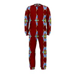 Geometric Seamless Pattern Digital Computer Graphic Wallpaper Onepiece Jumpsuit (kids)