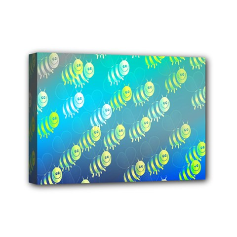 Swarm Of Bees Background Wallpaper Pattern Mini Canvas 7  X 5