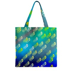 Swarm Of Bees Background Wallpaper Pattern Zipper Grocery Tote Bag