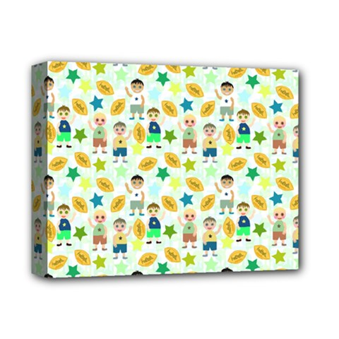 Football Kids Children Pattern Deluxe Canvas 14  x 11