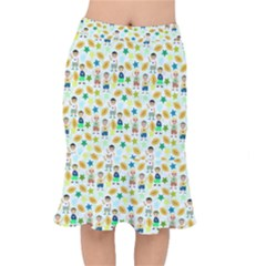 Football Kids Children Pattern Mermaid Skirt