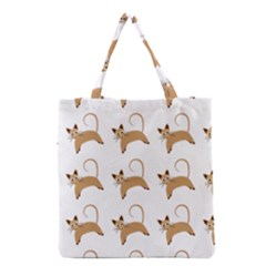 Cute Cats Seamless Wallpaper Background Pattern Grocery Tote Bag