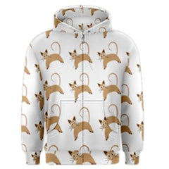 Cute Cats Seamless Wallpaper Background Pattern Men s Zipper Hoodie