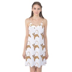 Cute Cats Seamless Wallpaper Background Pattern Camis Nightgown