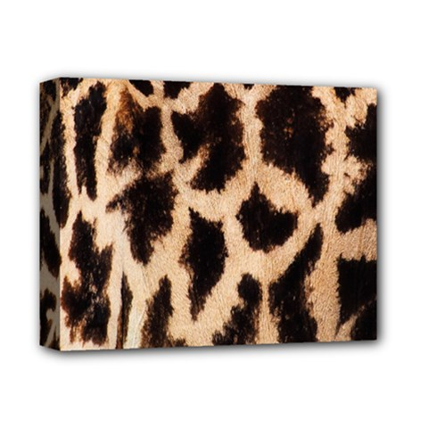 Yellow And Brown Spots On Giraffe Skin Texture Deluxe Canvas 14  x 11