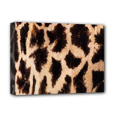 Yellow And Brown Spots On Giraffe Skin Texture Deluxe Canvas 16  X 12