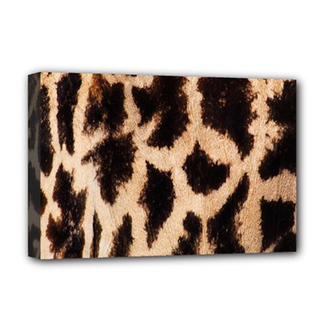 Yellow And Brown Spots On Giraffe Skin Texture Deluxe Canvas 18  x 12