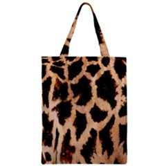 Yellow And Brown Spots On Giraffe Skin Texture Zipper Classic Tote Bag