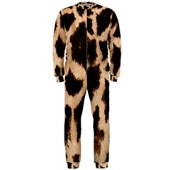 Yellow And Brown Spots On Giraffe Skin Texture OnePiece Jumpsuit (Men)