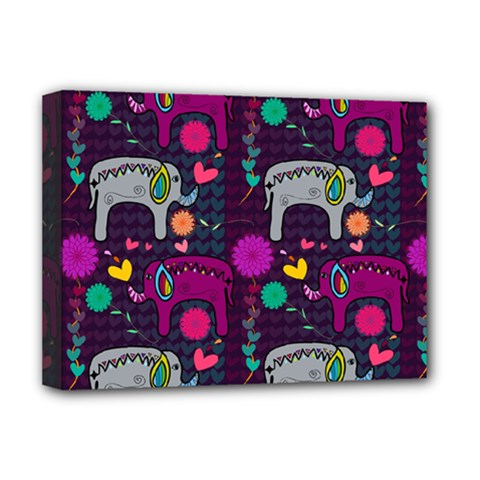 Love Colorful Elephants Background Deluxe Canvas 16  x 12