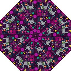 Love Colorful Elephants Background Golf Umbrellas