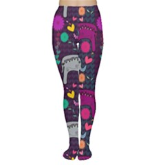 Love Colorful Elephants Background Women s Tights