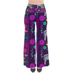 Love Colorful Elephants Background Pants
