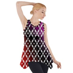 Flowers Digital Pattern Summer Woods Art Shapes Side Drop Tank Tunic