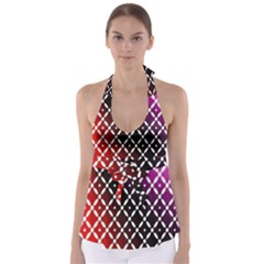 Flowers Digital Pattern Summer Woods Art Shapes Babydoll Tankini Top