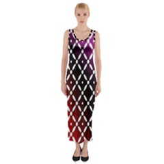Flowers Digital Pattern Summer Woods Art Shapes Fitted Maxi Dress