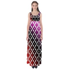 Flowers Digital Pattern Summer Woods Art Shapes Empire Waist Maxi Dress