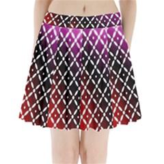 Flowers Digital Pattern Summer Woods Art Shapes Pleated Mini Skirt