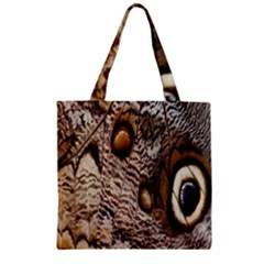 Butterfly Wing Detail Zipper Grocery Tote Bag
