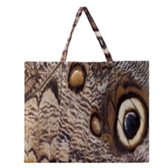 Butterfly Wing Detail Zipper Large Tote Bag