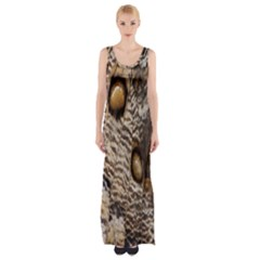 Butterfly Wing Detail Maxi Thigh Split Dress
