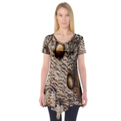 Butterfly Wing Detail Short Sleeve Tunic