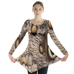 Butterfly Wing Detail Long Sleeve Tunic