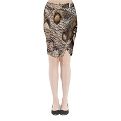 Butterfly Wing Detail Midi Wrap Pencil Skirt