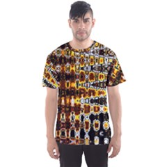 Bright Yellow And Black Abstract Men s Sport Mesh Tee
